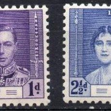 Sellos: ST. VINCENT/1937/MNH/SC#138, 140/ EMISION DE CORONACION/ REY EDUARDO VII & REINA ELIZABETH / REALEZA. Lote 215501632
