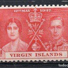 Sellos: VIRGIN ISLAND/1937/MH/SC#88/ EMISION DE CORONACION / REY EDUARDO VII & REINA ELIZABETH / REALEZA. Lote 215501767