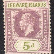 Sellos: LEEWARD ISLAND/1922/MH/SC#74/ REY JORGE V / REALEZA. Lote 215501988