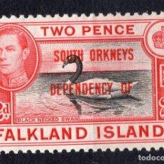 Sellos: FALKLAND ISLANDS/1944/MH/SC#4L3/REY EDUARDO VII / SOBREIMPRESO / SOUTH ORKNEYS. Lote 215515502