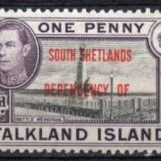 Sellos: FALKLAND ISLANDS/1944/MH/SC#5L1-5L3/ REY EDUARDO VII / SOBRE IMPRESO / SOUTH SHETLANDS. Lote 215516538