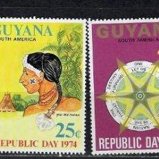 Timbres: GUYANA Nº 437 AL 440 (**). Lote 217194443