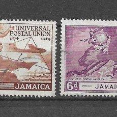 Sellos: JAMAICA,UPU,1949, YVERT 149 Y 152,USADOS. Lote 217963527