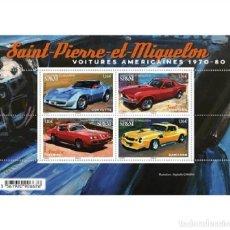 Sellos: SAINT PIERRE & MIQUELON 2020 - BLOC - VOITURES AMÉRICAINES. Lote 218057561