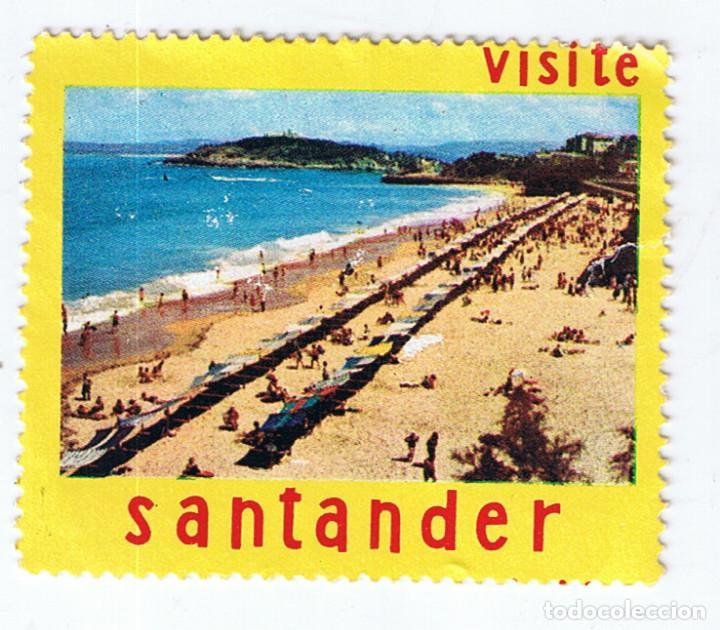 VIÑETA FILATÉLICA VISITE SANTANDER. SELLO ESTAMPILLA TURISMO ESPAÑA (Sellos - Temáticas - Varias)