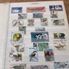 Sellos: ÁLBUM SELLOS MUNDO 64 PÁGINAS ANIMALES, PLANTAS, PINTURA Y ASTROFILATELIA. Lote 218289533