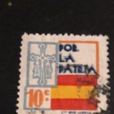 Sellos: 1 VIÑETA DE ** POR LA PATRIA . ** 10 CTS . LIT. RIO LUARCA. Lote 218296603