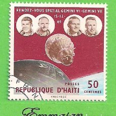 Sellos: HAITI - MICHEL 870 - YVERT 555 - ENCUENTRO ESPACIAL GEMINIS VI - GEMINI VII. (1966).. Lote 218824310