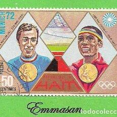 Sellos: HAITI - MICHEL 1209 - YVERT 717 - JUEGOS OLÍMPICOS DE MUNICH. (1972).. Lote 218826337