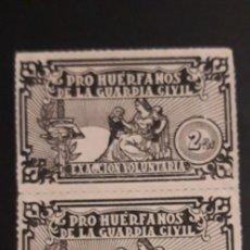 Sellos: 2 VIÑETAS ** PRO HUERFANOS DE LA GUARDIA CIVIL . 2 PTS. **. Lote 219192000