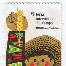 Sellos: VIÑETA FILATÉLICA VI FERIA INTERNACIONAL DEL CAMPO MADRID 1965 ESTAMPILLA. Lote 219347416