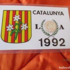 Sellos: CATALUNYA, LERIDA 1992. EN BARCELONA. MEDALLA CONMEMORATIVA PLACADA 900 ANGSTROMS DE PLATA DE LEY. Lote 220686356