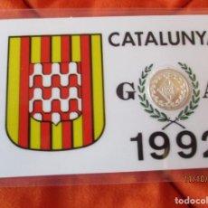 Sellos: CATALUNYA, GERONA 1992. EN BARCELONA. MEDALLA CONMEMORATIVA PLACADA 900 ANGSTROMS DE PLATA DE LEY. Lote 220686625