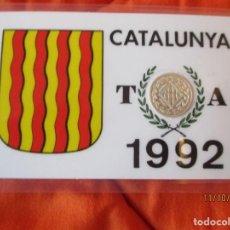 Sellos: CATALUNYA, TARRAGONA 1992. EN BARCELONA. MEDALLA CONMEMORATIVA PLACADA 900 ANGSTROMS DE PLATA DE LEY. Lote 220686867