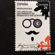 Sellos: ESCRITORES. ESPAÑA AÑO 2020. 440 ANIVERSARIO NACIMIENTO FRANCISCO DE QUEVEDO. Lote 243093880
