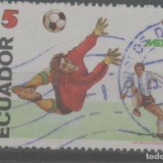 Timbres: LOTE (2) SELLO ECUADOR FUTBOL. Lote 221558097