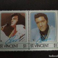Sellos: ST. VINCENT - SELLOS LEYENDAS DE LA MUSICA- EL REY DEL ROCK: ELVIS PRESLEY. Lote 221733207