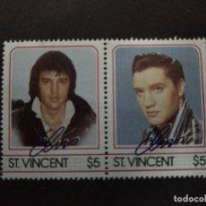 Sellos: ST. VINCENT - SELLOS LEYENDAS DE LA MUSICA- EL REY DEL ROCK: ELVIS PRESLEY. Lote 221733290