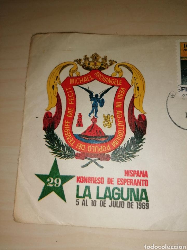 Sellos: Sobre 29 congreso Esperanto, La Laguna, 1969 - sellos First Man On The Moon, 1969 - Foto 3 - 221783251