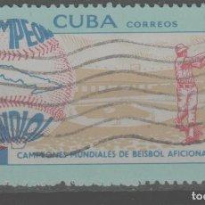 Sellos: LOTE (12) SELLO CUBA BEISBOL. Lote 222073858