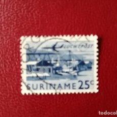 Sellos: SURINAME - SURINAM - GUAYANA NEERLANDESA - VALOR FACIAL 25 C - BARCO - AVIÓN. Lote 222184520