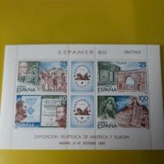 Sellos: RELIGIÓN BARCOS MUSICA PERSONAJES MONUMENTOS EDIFIL 2583 ESPAMER 1980 HB. Lote 222199775
