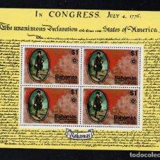 Sellos: BAHAMAS HB 16** - AÑO 1976 - BICENTENARIO DE LA INDEPENDENCIA DE ESTADOS UNIDOS. Lote 222358608