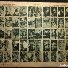 Sellos: HOJA CON 60 SELLOS, FOTOGRAFÍAS DE SEVILLA. SERRANO. 1940'S. HUECOGRABADO FOURNIER. VITORIA.. Lote 222448603