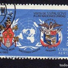 Sellos: AMÉRICA. PANAMÁ. VISITA DE S. PABLO VI. USADO SIN CHARNELA. Lote 222519906