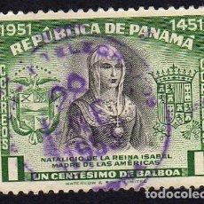 Sellos: AMÉRICA.PANAMÁ. ISABEL MADRE DE LAS AMÉRICAS. USADO SIN CHARNELA. Lote 222520076