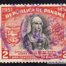 Sellos: AMÉRICA.PANAMÁ. ISABEL MADRE DE LAS AMÉRICAS. USADO SIN CHARNELA. Lote 222520111