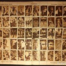 Sellos: HOJA CON 60 SELLOS, FOTOGRAFÍAS DE SEVILLA. SERRANO. 1940'S. HUECOGRABADO FOURNIER. VITORIA.. Lote 222448407