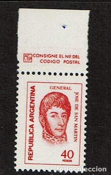 PERSONAJES ARGENTINA GENERAL JOSE DE SAN MARTIN (Sellos - Temáticas - Varias)
