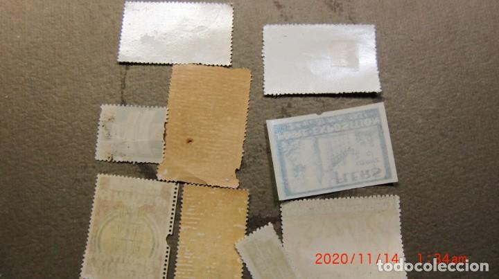 Sellos: ANTIGUO LOTE DE 9 SELLOS EXPOSICIONES UNIVERSALES- - Foto 2 - 224707872