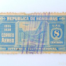Sellos: ANTIGUO SELLO POSTAL HONDURAS 1935, 8 CENTAVOS,OFICINA POSTAL Y PALACION NACIONAL TEGUCIGALPA, USADO. Lote 226211690