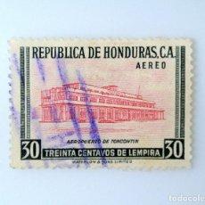 Sellos: ANTIGUO SELLO POSTAL HONDURAS 1956, 20 CENTAVOS, AEROPUERTO INTERNACIONAL DE TONCONTIN, USADO. Lote 226242035