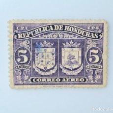 Sellos: ANTIGUO SELLO POSTAL HONDURAS 1946, 5 CENTAVOS, ESCUDO DE ARMAS COMAYAGUA Y SAN JORGE DE O., USADO. Lote 226412191