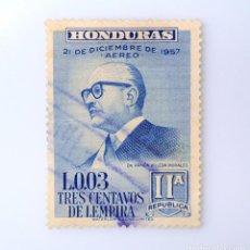 Sellos: ANTIGUO SELLO POSTAL HONDURAS 1959, 3 CENTAVOS DE LEMPIRA, PRESIDENTE RAMON VILLEDA MORALES , USADO. Lote 226413600