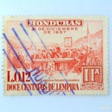 Sellos: ANTIGUO SELLO POSTAL HONDURAS 1959, 12 CENTAVOS DE LEMPIRA, PRESIDENTE VILLEDA MORALES , USADO. Lote 226417317