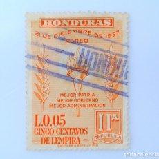 Sellos: ANTIGUO SELLO POSTAL HONDURAS 1959 ,5 CENTAVOS, SEGUNDO ANIVERSARIO DE LA NUEVA REPUBLICA, USADO. Lote 226631055