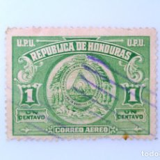 Sellos: ANTIGUO SELLO POSTAL HONDURAS 1943 ,1 CENTAVO, ESCUDO DE ARMAS, USADO. Lote 226810695