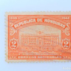 Sellos: ANTIGUO SELLO POSTAL HONDURAS 1939 , 2 CENTAVOS, PALACIO DEL DISTRITO CENTRAL, USADO. Lote 226814200