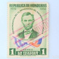 Sellos: ANTIGUO SELLO POSTAL HONDURAS 1959 ,1 CENTAVO, 150 ANIVERSARIO DEL NACIMIENTO DE LINCOLN,USADO. Lote 226817440