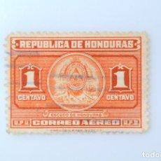 Sellos: ANTIGUO SELLO POSTAL HONDURAS 1946 ,1 CENTAVO, ESCUDO DE ARMAS ,USADO. Lote 226819480