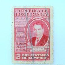 Sellos: ANTIGUO SELLO POSTAL HONDURAS 1949 ,1 CENTAVO, JUAN MANUEL GALVEZ ,USADO. Lote 226823315