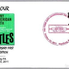 Francobolli: MATASELLOS MUSICA - 50 AÑOS PRIMER SINGLE DE LOS BEATLES. HAMBURG PA, ESTADOS UNIDOS, 2011. Lote 227570185