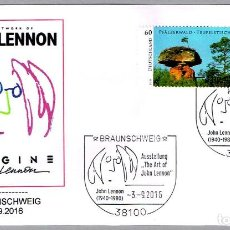 Francobolli: MATASELLOS EL ARTE DE JOHN LENNON - BEATLES - MUSICA. BRAUNSCHWEIG, ALEMANIA, 2016. Lote 227570300