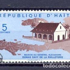 Sellos: HAITI, 1961 CASA DEL GRAL. ALEXANDER DUMAS. Lote 227693475