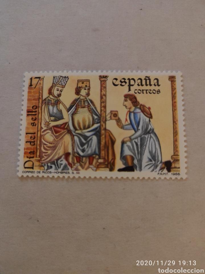 SELLO ESPAÑA EDIFIL 2857. AÑO 1986. DIA DEL SELLO. (Sellos - Temáticas - Varias)