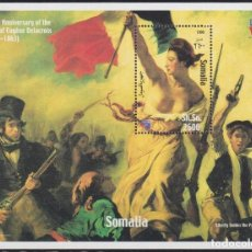 Timbres: F-EX20571 SOMALIA MNH 1999 SHEET DELACROIX LIBERTE GUIDES THR PEOPLE ART PAINTING. Lote 228644800